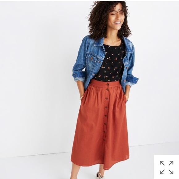 de9ed5f276 Madewell Skirts | Palisade Buttonfront Midi Skirt | Poshmark